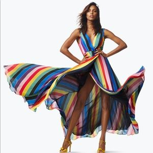 NEW Aqua Maxi Striped Dress